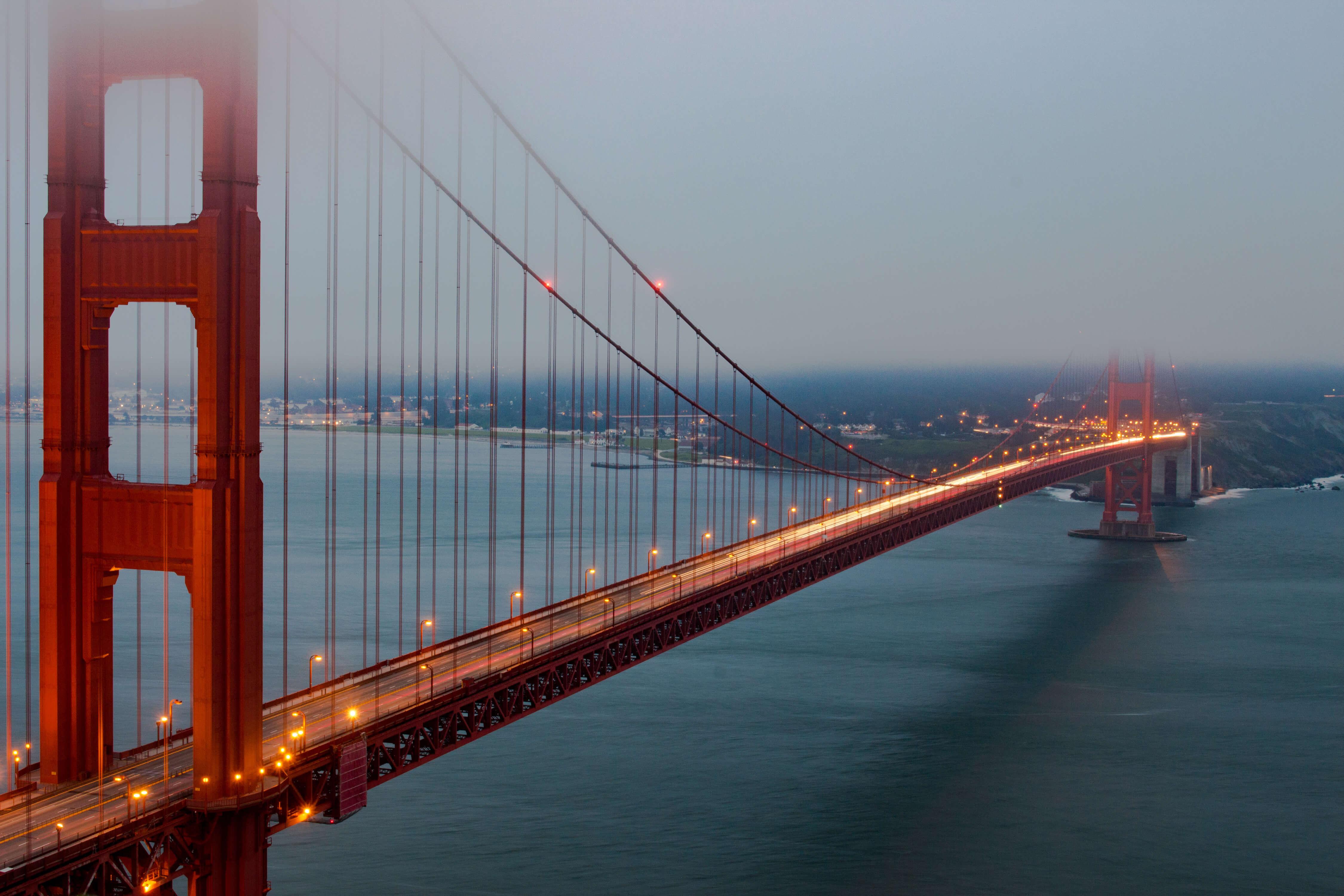 Golden Gate Bridge in the fog by Scott