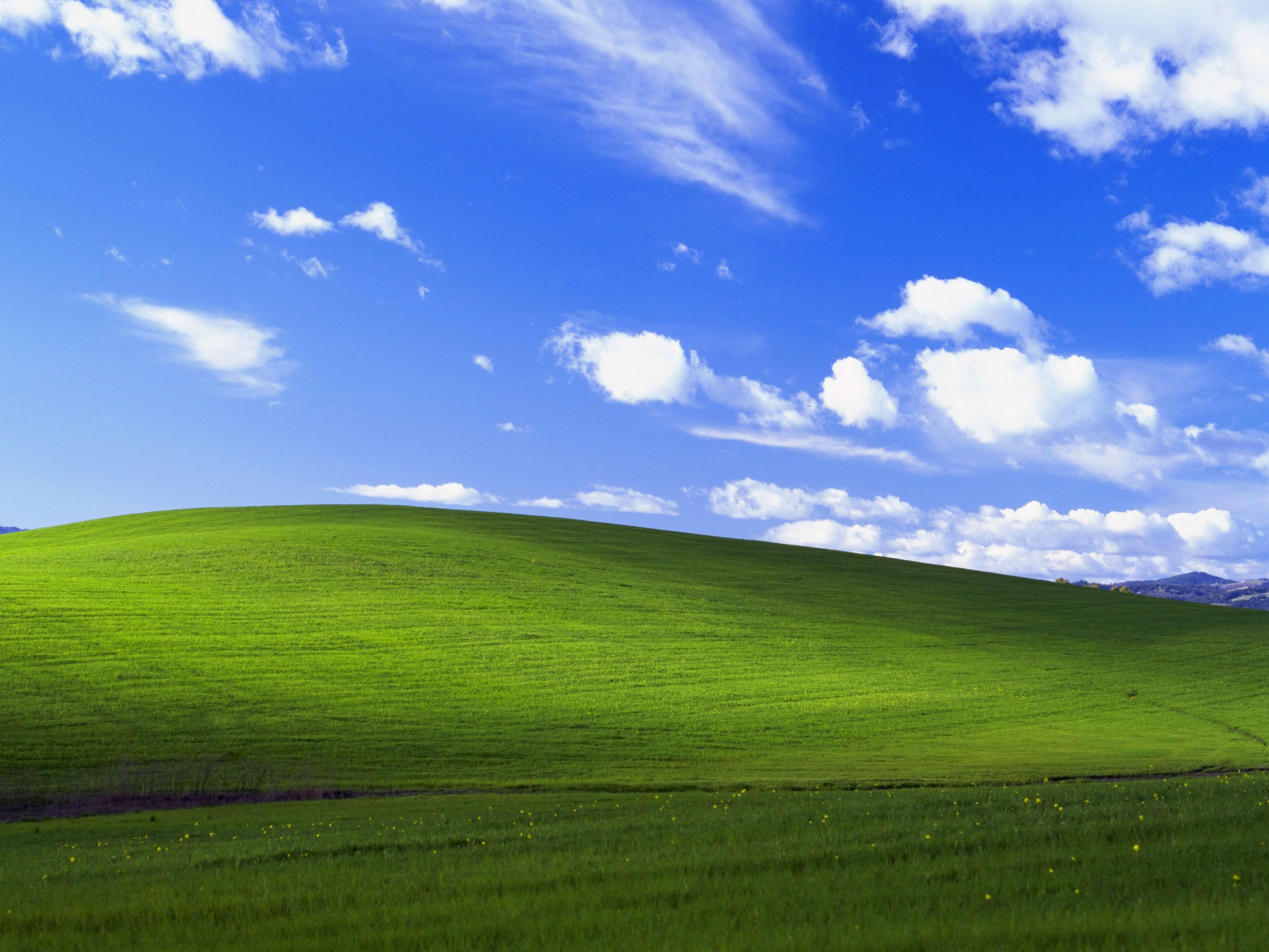 Обои Bliss, xp, windows. Windows foto 15